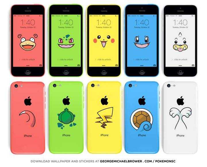 IPhone 5c: แจกวอลล์เปเปอร์และสติ๊กเกอร์เท่ๆเปลี่ยน IPhone