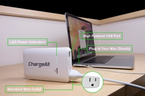 Gadget: ขอแนะนำ ChargeAll Portable Power Outlet แบตเตอรี่พกพามีปลั๊กไฟในตัว!