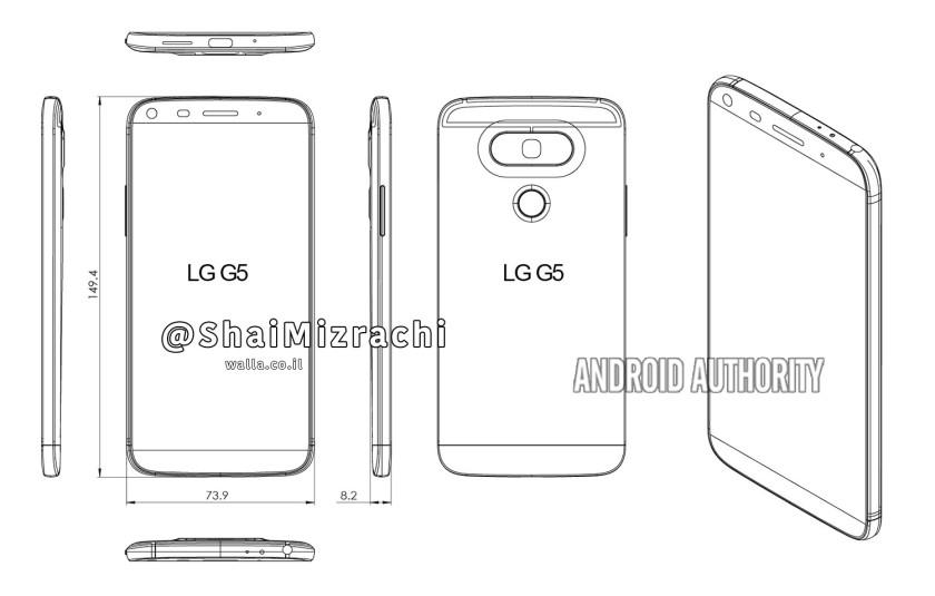 បែកធ្លាយរូបរាងរបស់ LG G5 មុនថ្ងៃដាក់បង្ហាញ