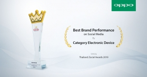 OPPO คว้ารางวัล Best Brand Performance on Social Media 2019 !