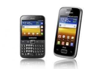 Android: Samsung เปิดตัว Galaxy Y DUOS และ Y Pro DUOS, 2 ซิม, Android 2.3, touch และ qwerty!